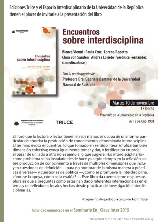 Presentación de libro - interdiciplina