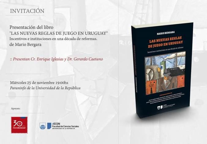 Presentación de libro nuevas reglas de juego en Uruguay
