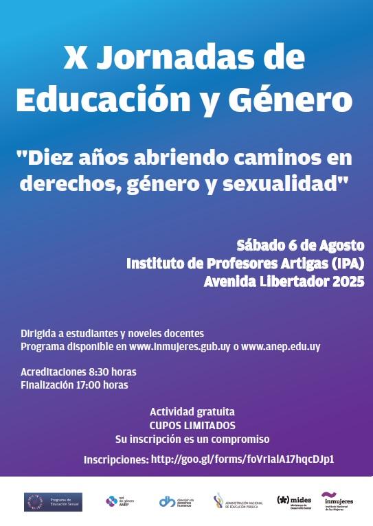 Afiche_X_Jornadas_Educación_y_Género